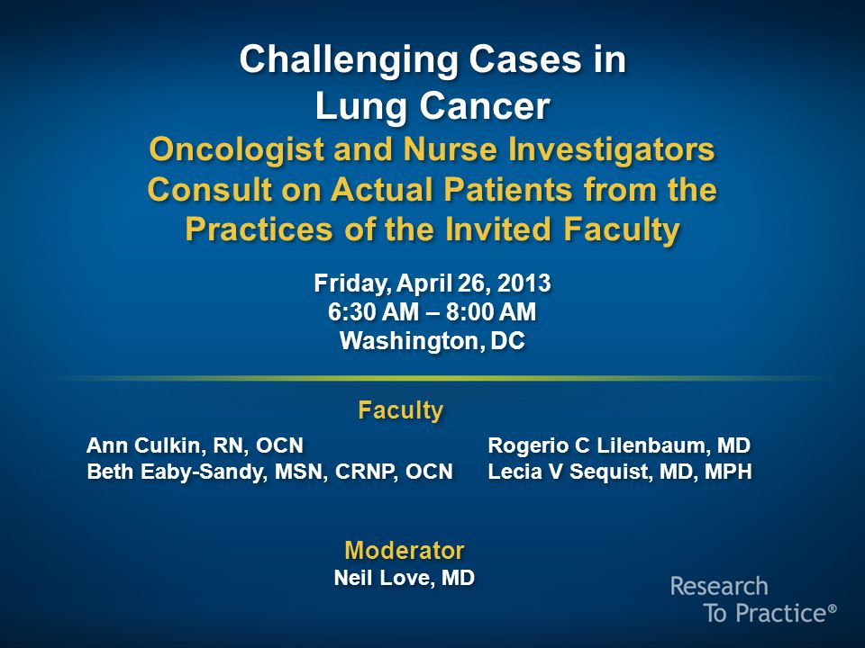 Challenging Cases in Lung Cancer