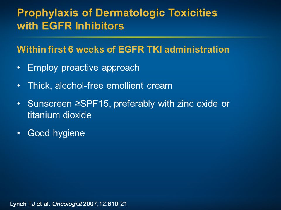 Prophylaxis of Dermatologic Toxicities with EGFR Inhibitors