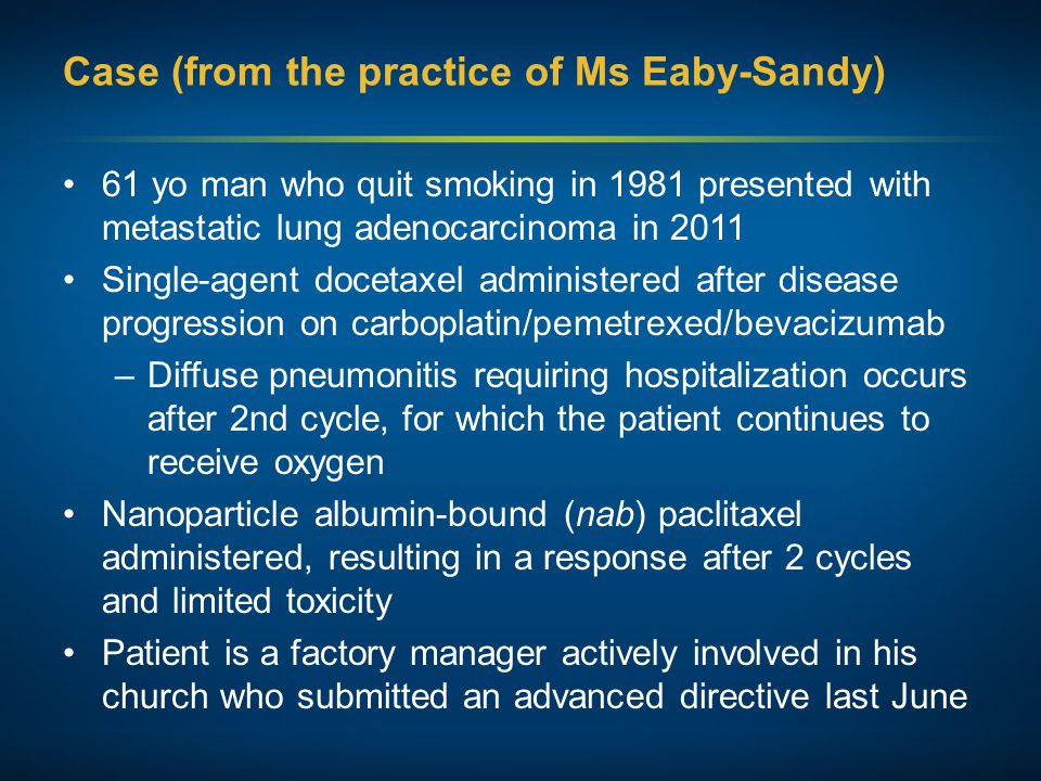 Case (from the practice of Ms Eaby-Sandy)