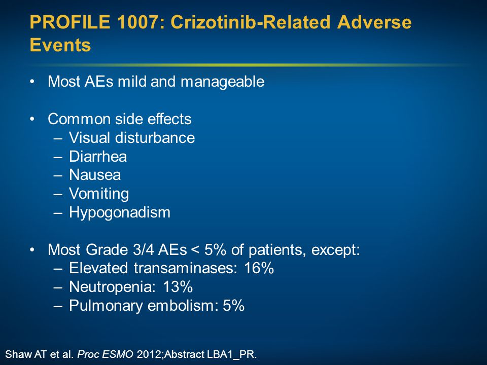 PROFILE 1007: Crizotinib-Related Adverse Events