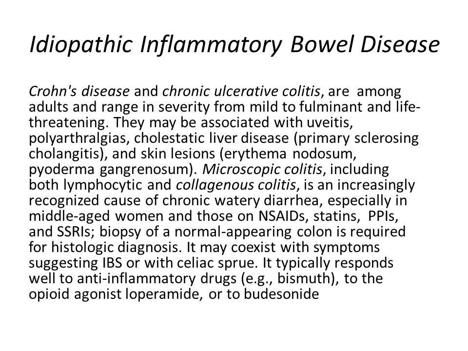 Idiopathic Inflammatory Bowel Disease