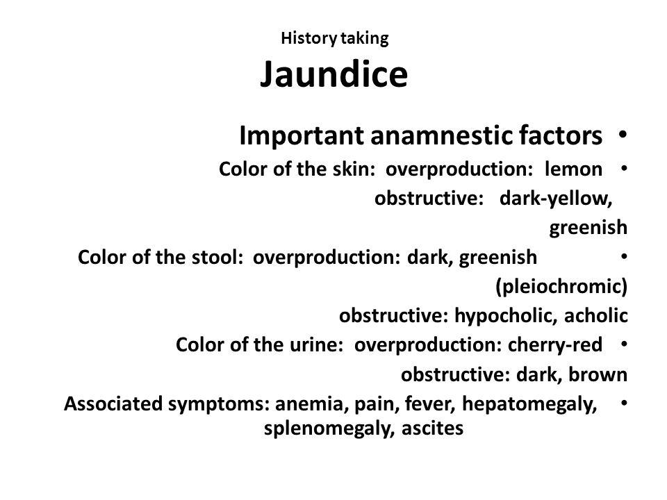 History taking Jaundice