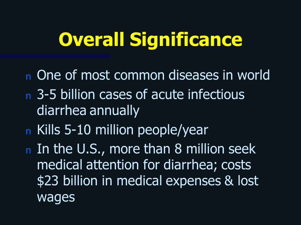 Overall Significance One of most common diseases in world