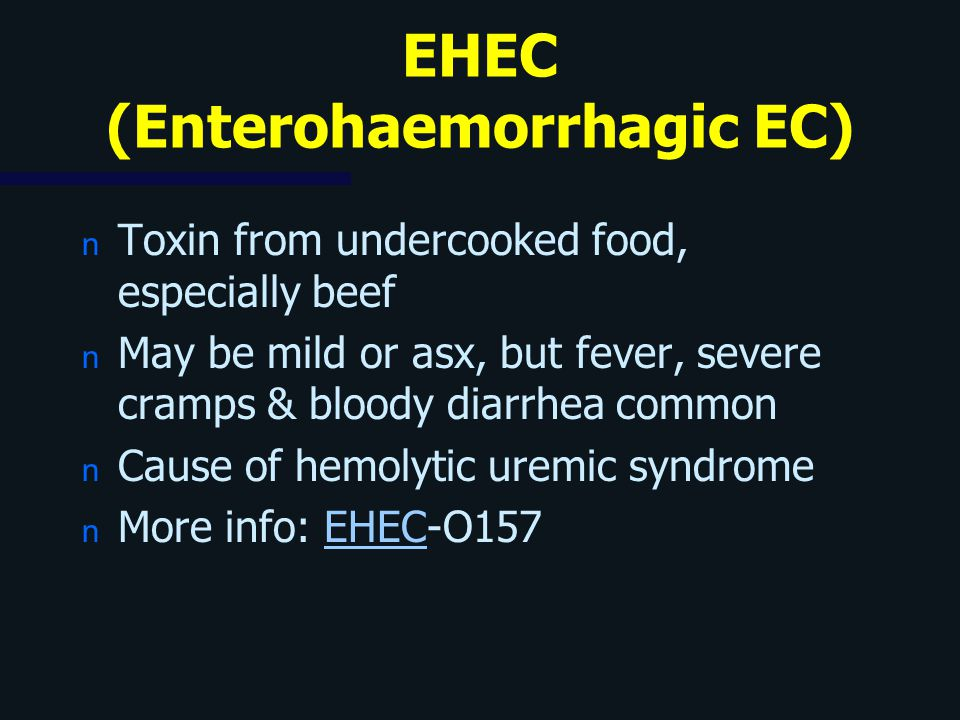EHEC (Enterohaemorrhagic EC)