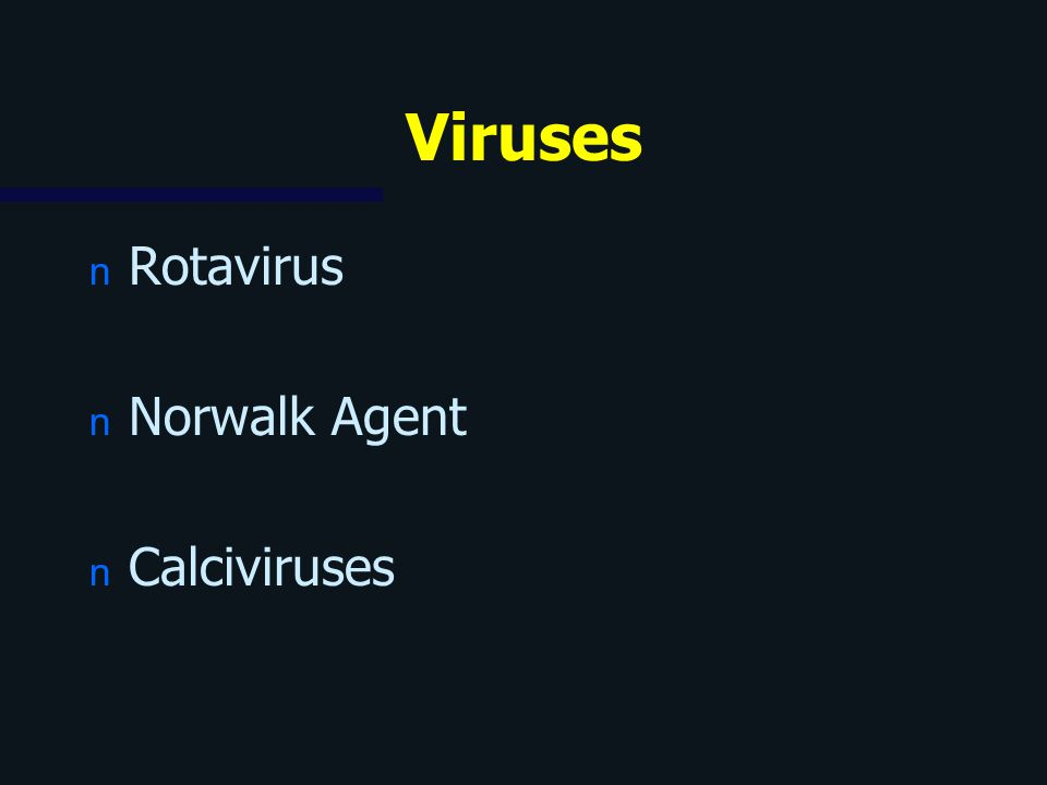 Viruses Rotavirus Norwalk Agent Calciviruses