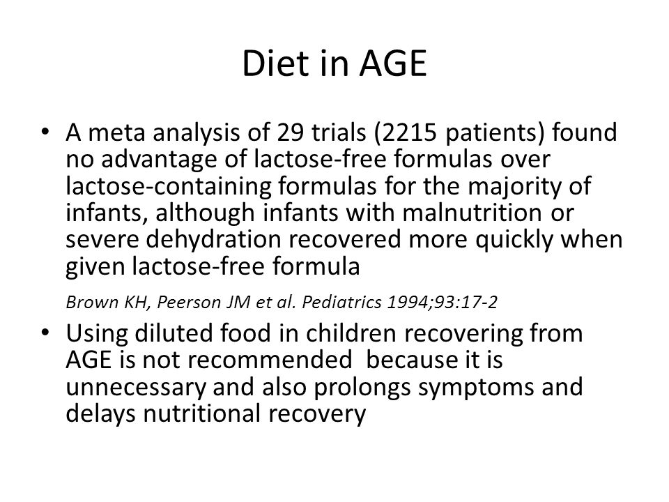 Diet in AGE