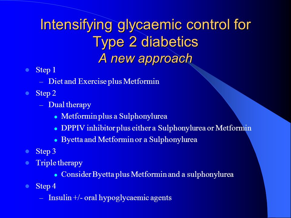 Intensifying glycaemic control for Type 2 diabetics A new approach