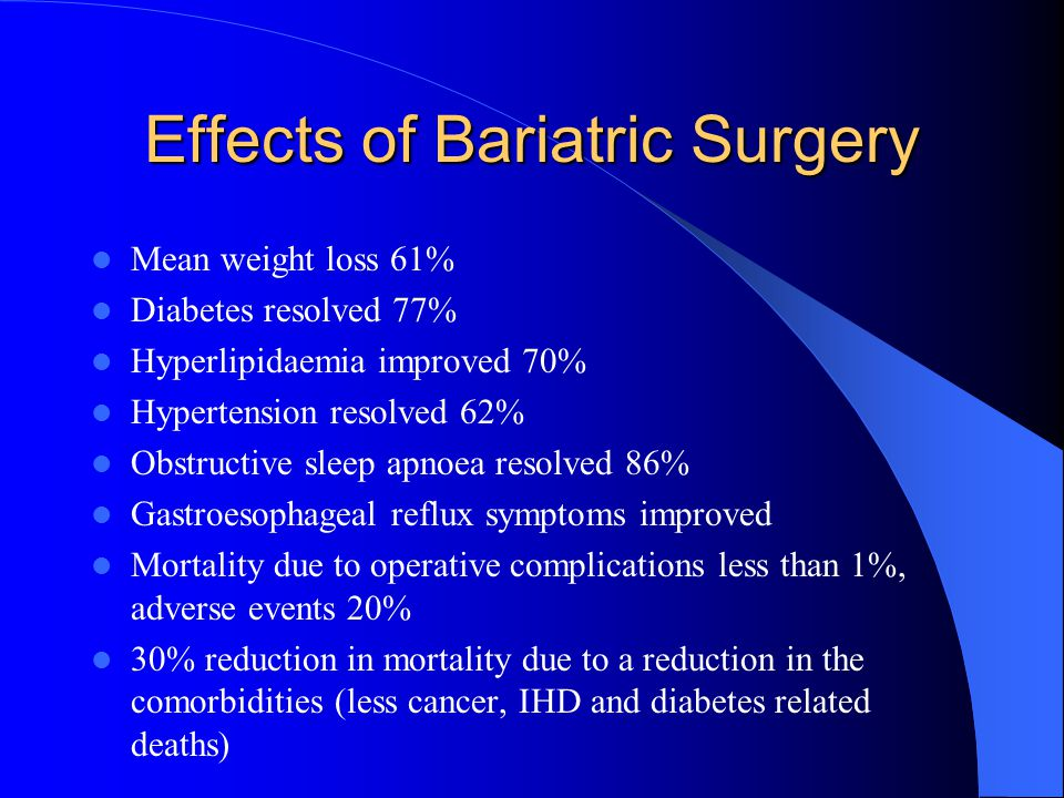 Effects of Bariatric Surgery