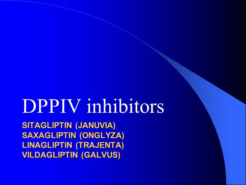 DPPIV inhibitors SITAGLIPTIN (Januvia) Saxagliptin (Onglyza) Linagliptin (Trajenta) Vildagliptin (GALVUS)