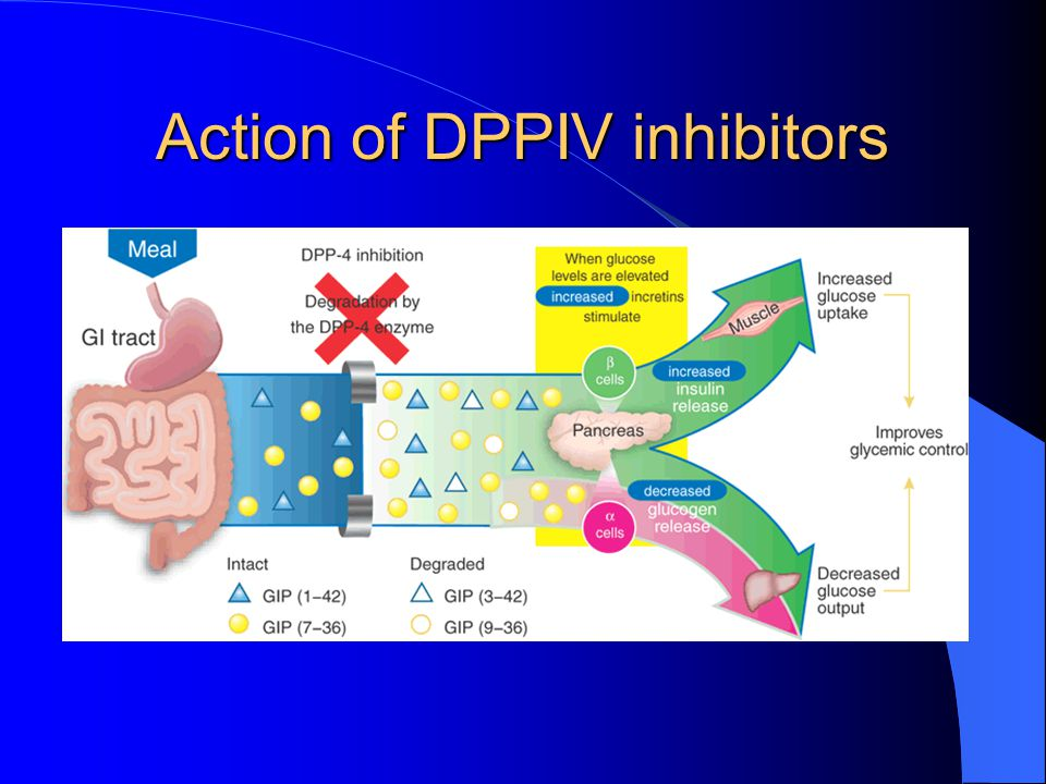 Action of DPPIV inhibitors