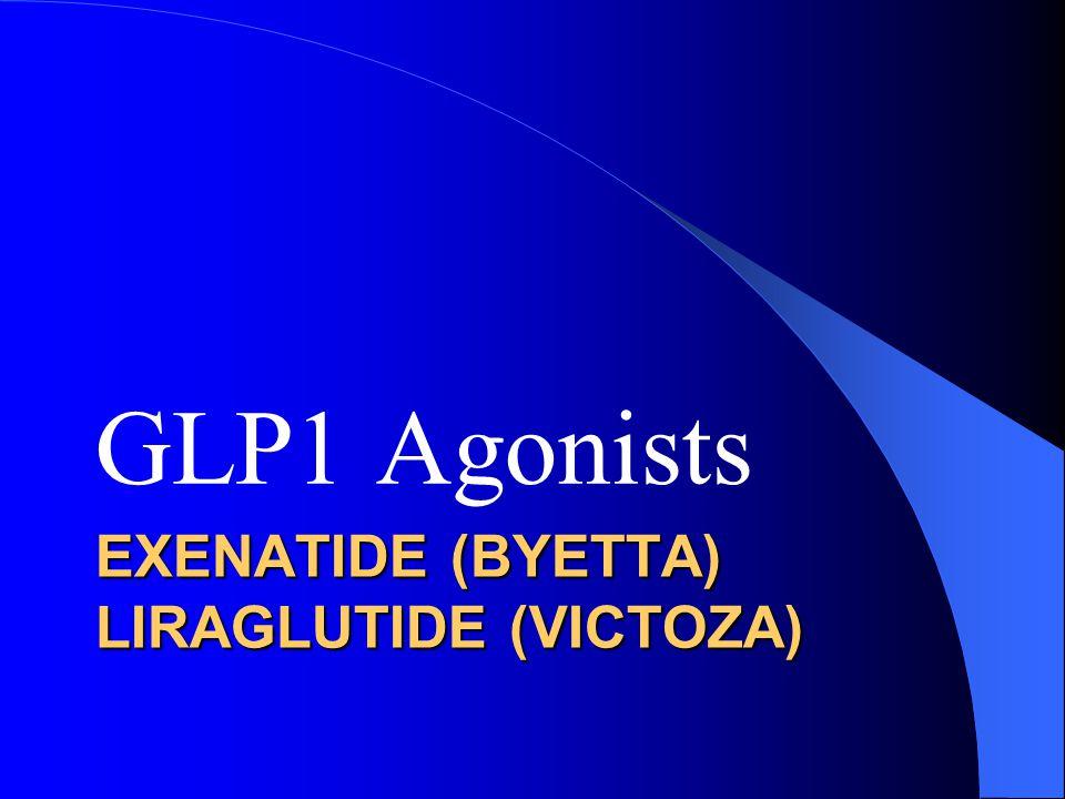 Exenatide (byetta) LiRagluTIDe (VICTOZA)
