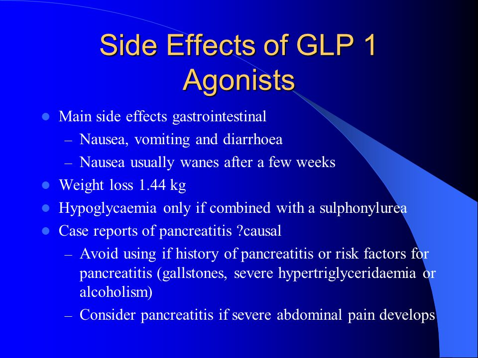 Side Effects of GLP 1 Agonists