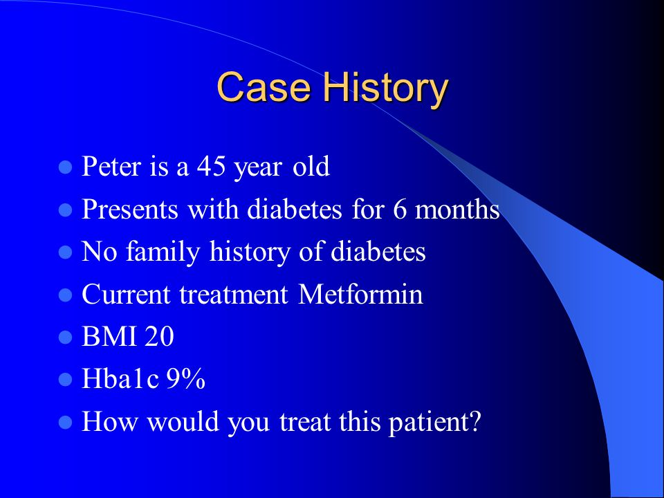 Case History Peter is a 45 year old