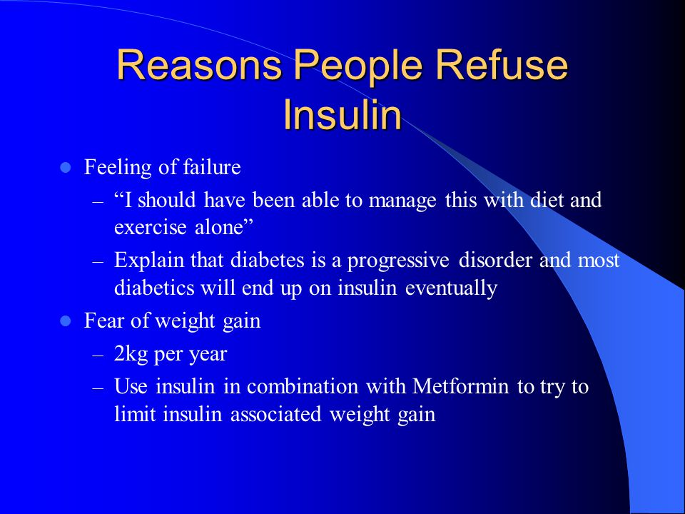 Reasons People Refuse Insulin