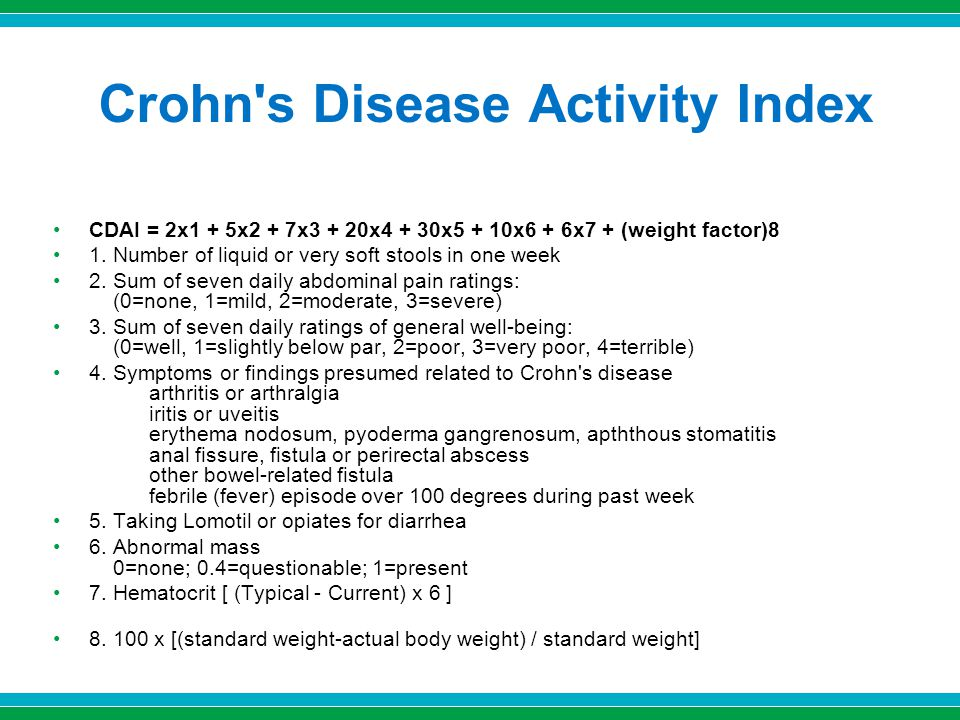 Crohn s Disease Activity Index