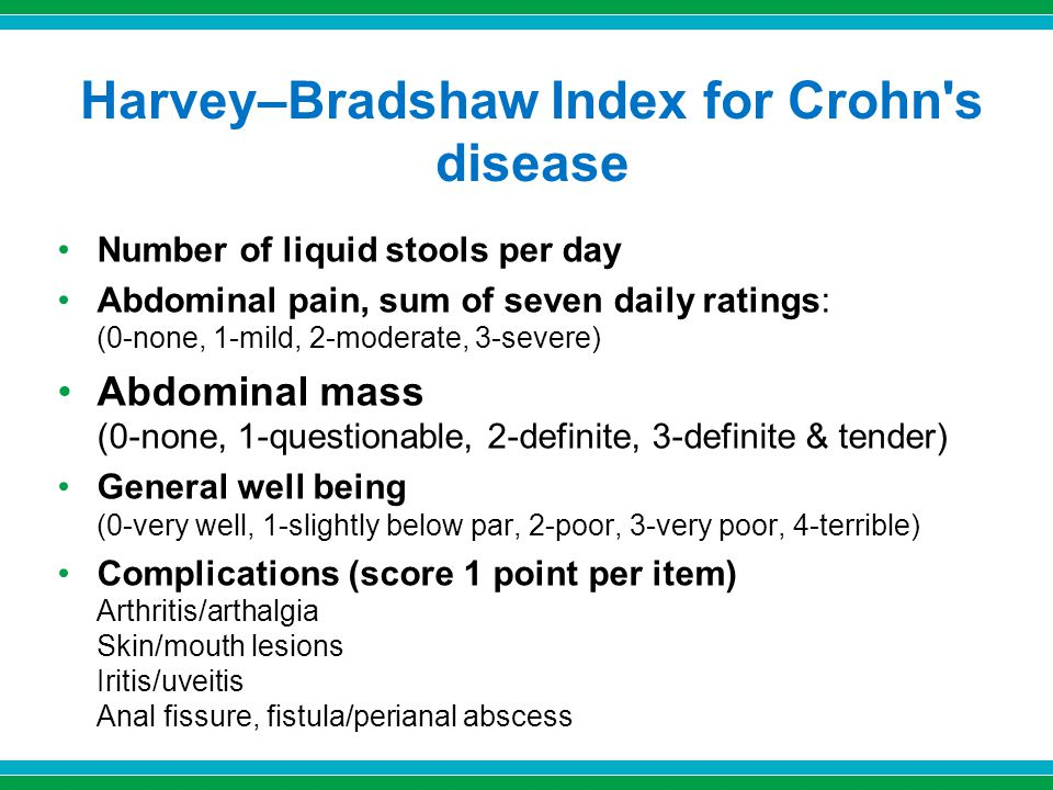 Harvey–Bradshaw Index for Crohn s disease