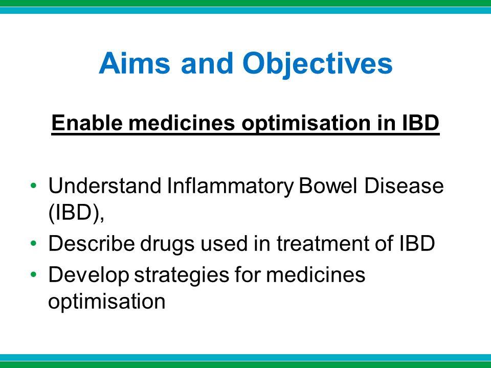Enable medicines optimisation in IBD