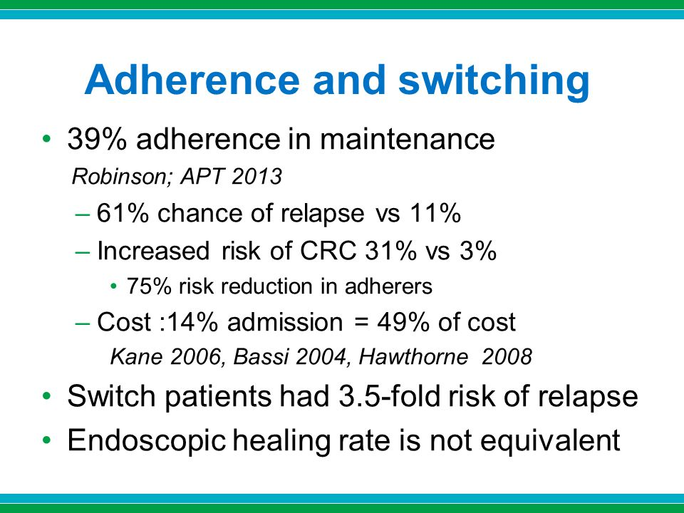 Adherence and switching