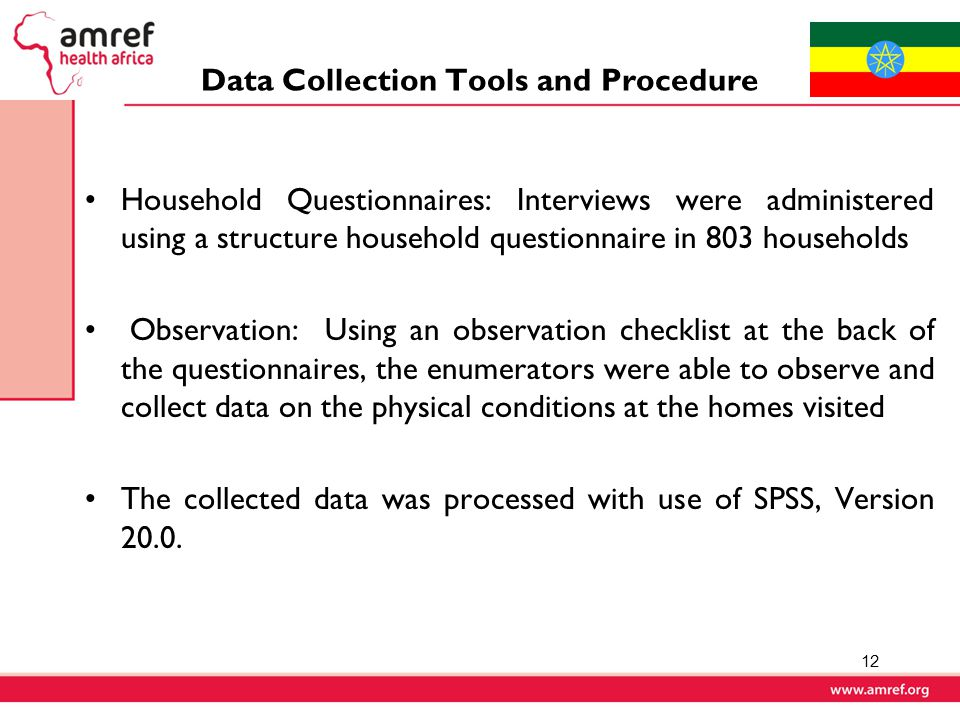 Data Collection Tools and Procedure