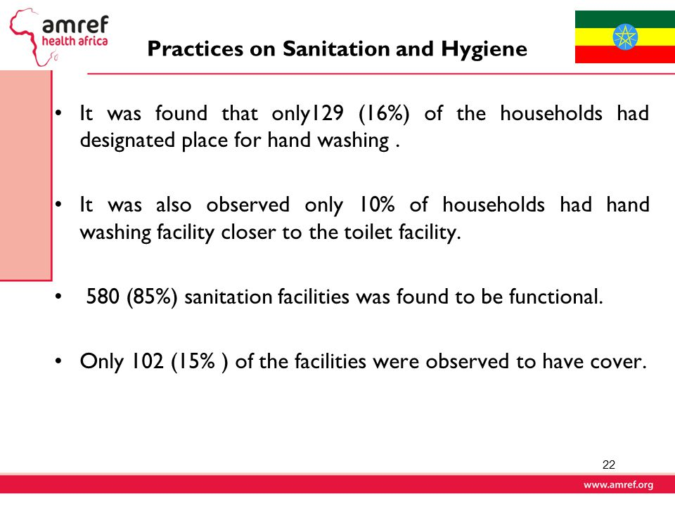 Practices on Sanitation and Hygiene