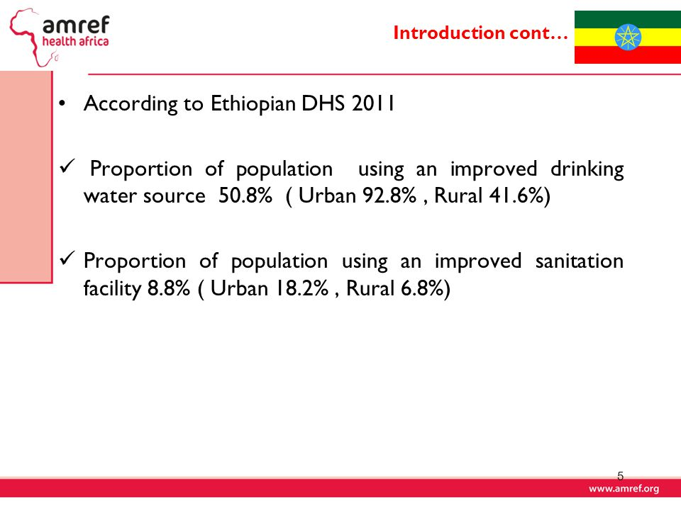 According to Ethiopian DHS 2011
