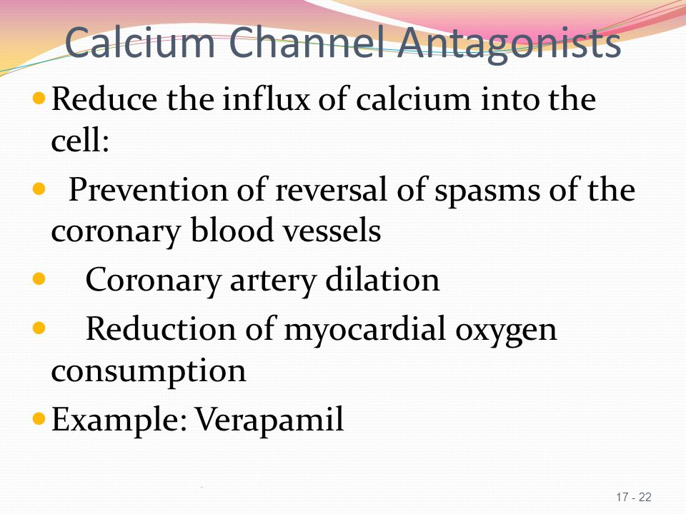 Calcium Channel Antagonists
