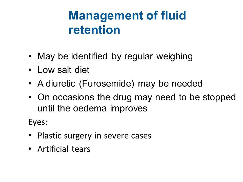 Management of fluid retention