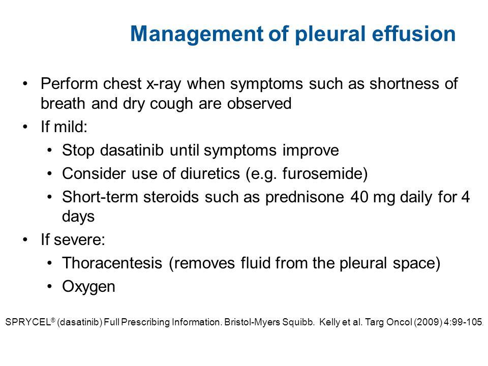 Management of pleural effusion