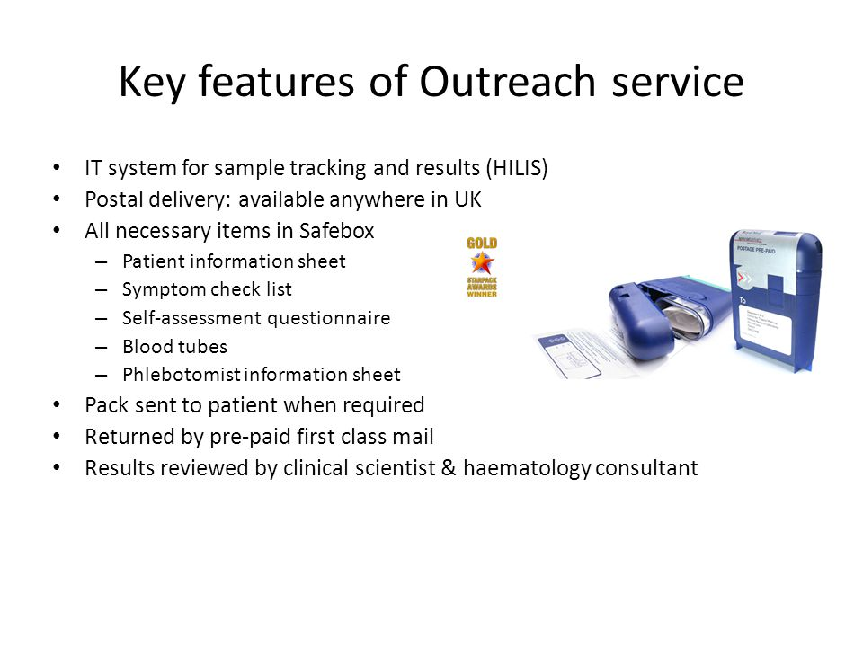 Key features of Outreach service