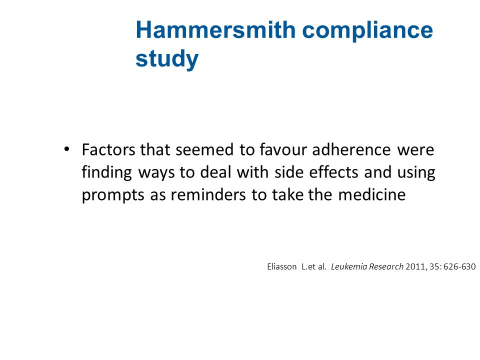 Hammersmith compliance study