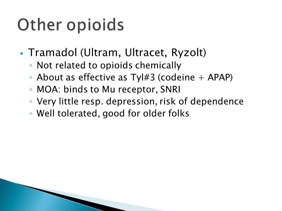 Other opioids Tramadol (Ultram, Ultracet, Ryzolt)