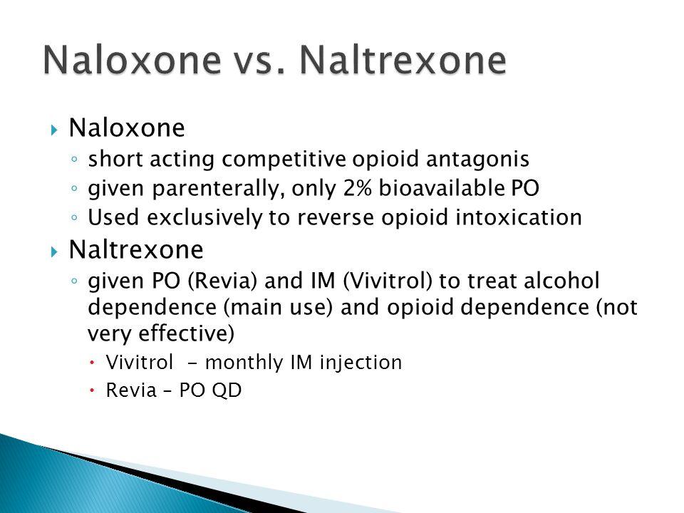 Naloxone vs. Naltrexone