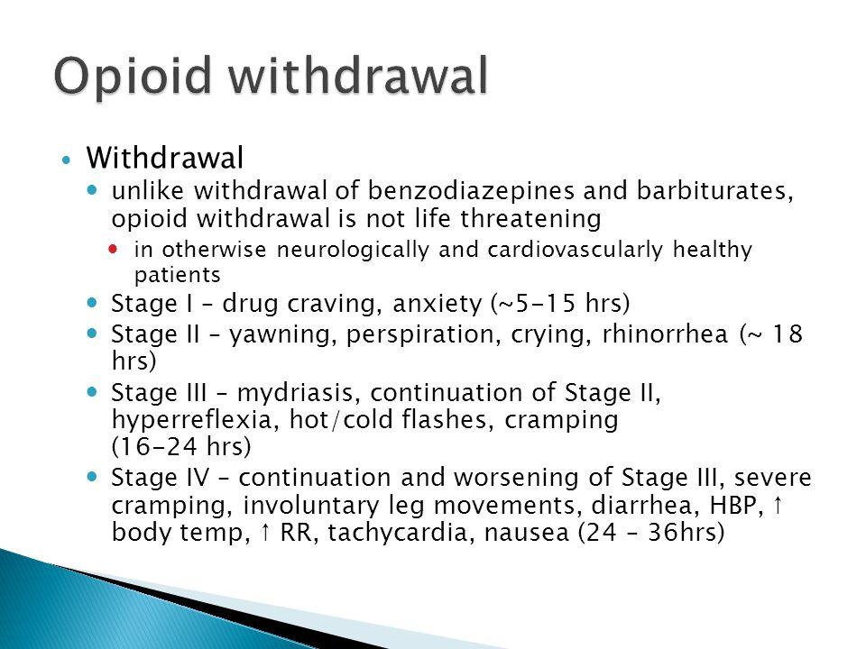 Opioid withdrawal Withdrawal