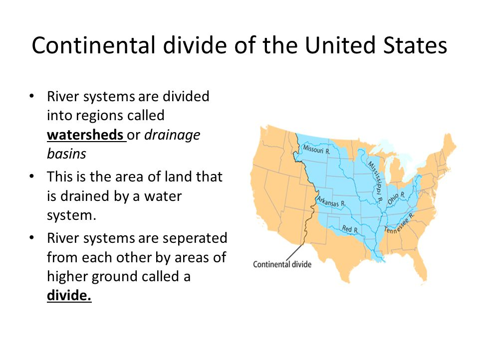 Continental divide of the United States