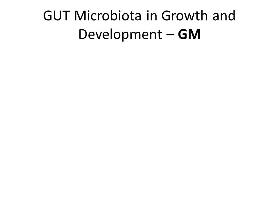 GUT Microbiota in Growth and Development – GM