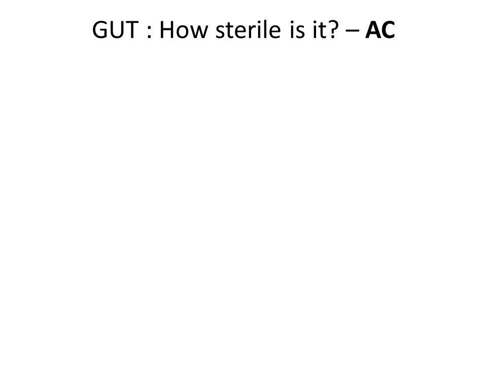 GUT : How sterile is it – AC