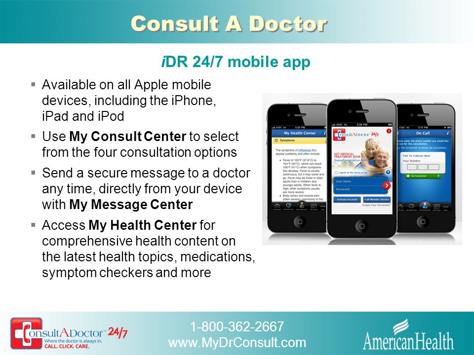 Consult A Doctor iDR 24/7 mobile app