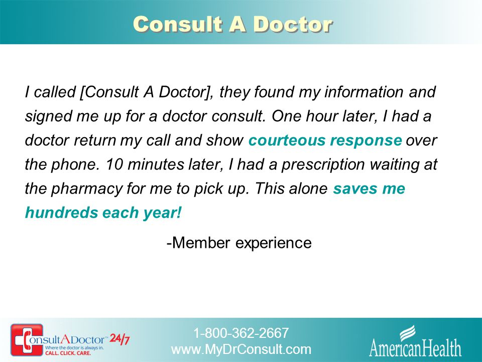 Consult A Doctor