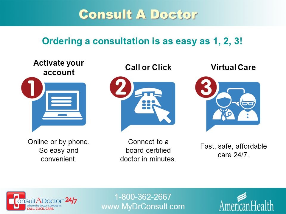 Ordering a consultation is as easy as 1, 2, 3!