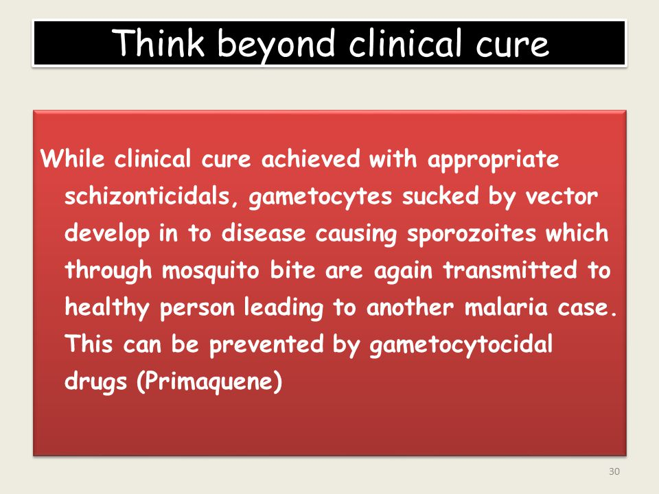Think beyond clinical cure