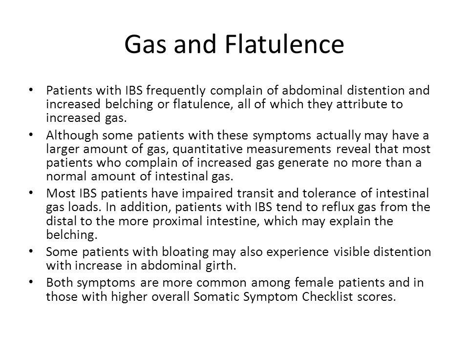 Gas and Flatulence