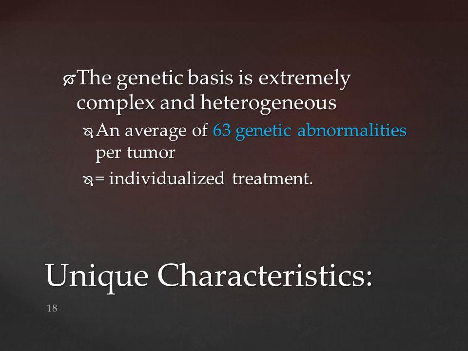 Unique Characteristics:
