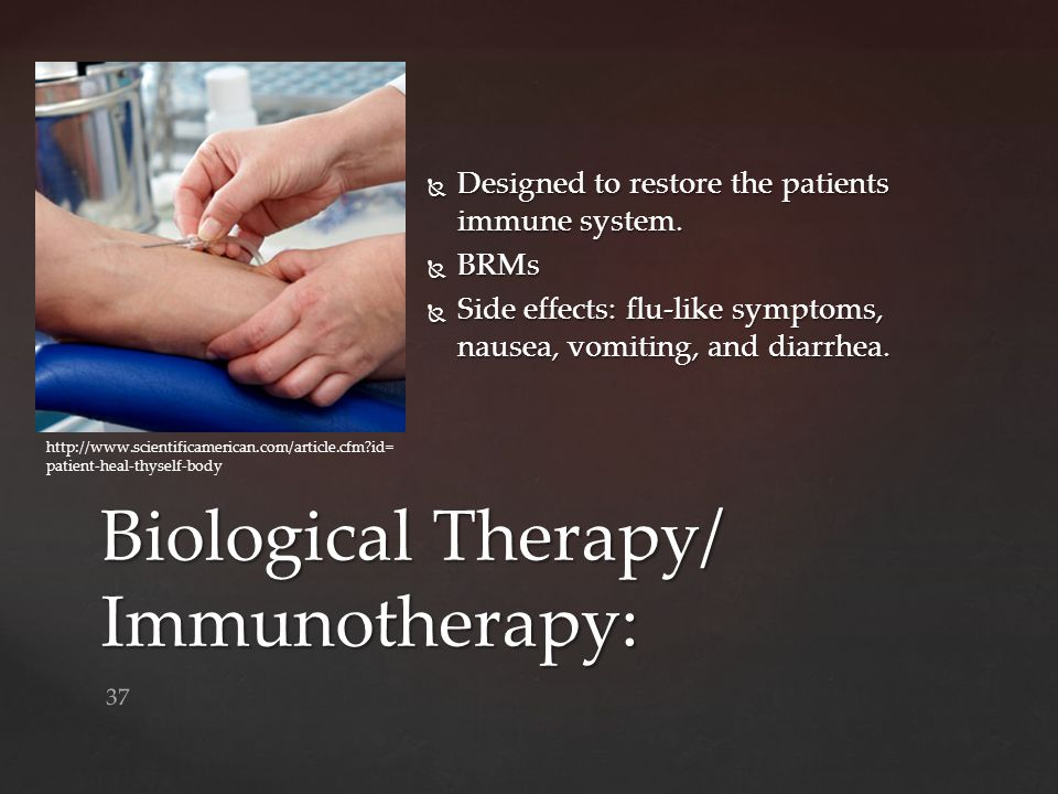 Biological Therapy/ Immunotherapy: