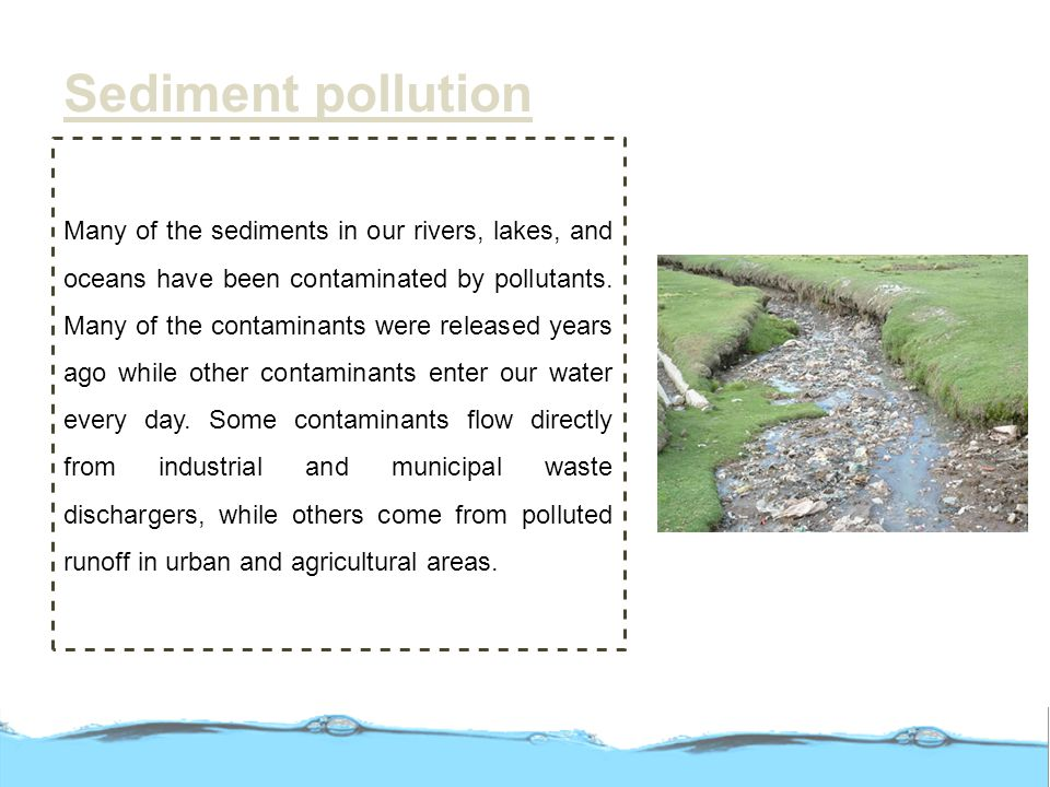 Sediment pollution