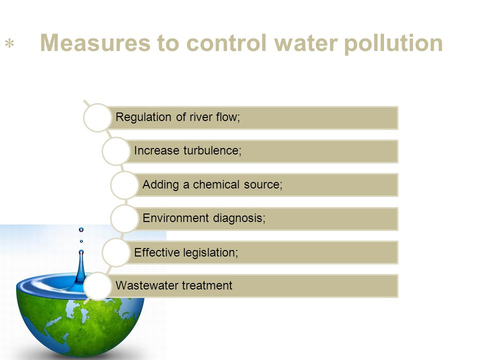 Measures to control water pollution