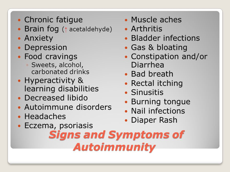 Signs and Symptoms of Autoimmunity