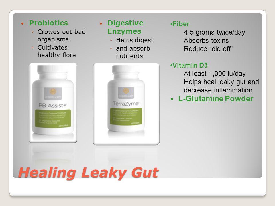 Healing Leaky Gut L-Glutamine Powder Probiotics Digestive Enzymes