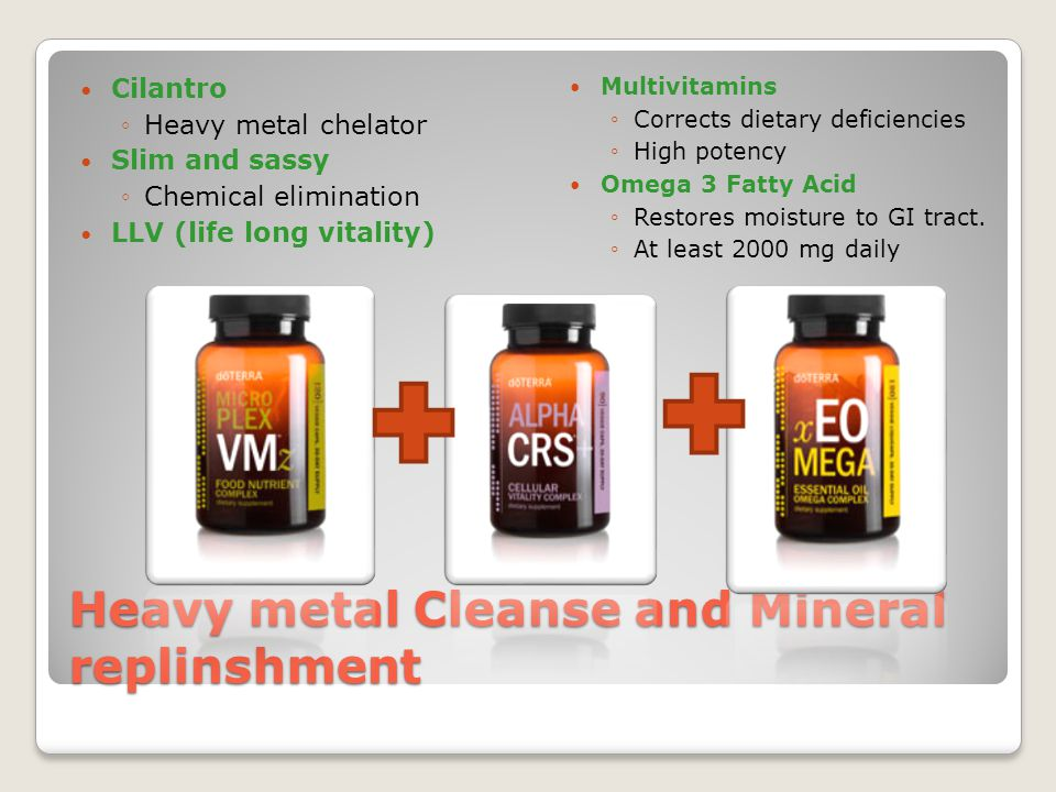 Heavy metal Cleanse and Mineral replinshment