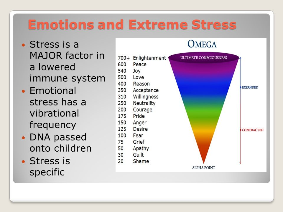 Emotions and Extreme Stress