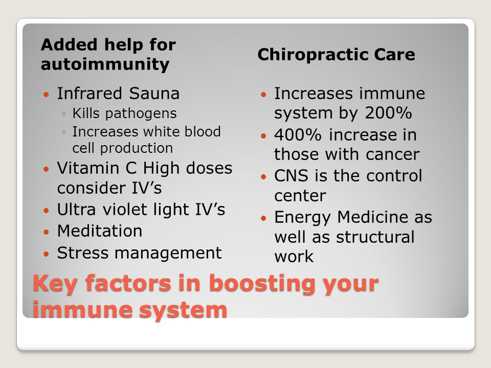 Key factors in boosting your immune system